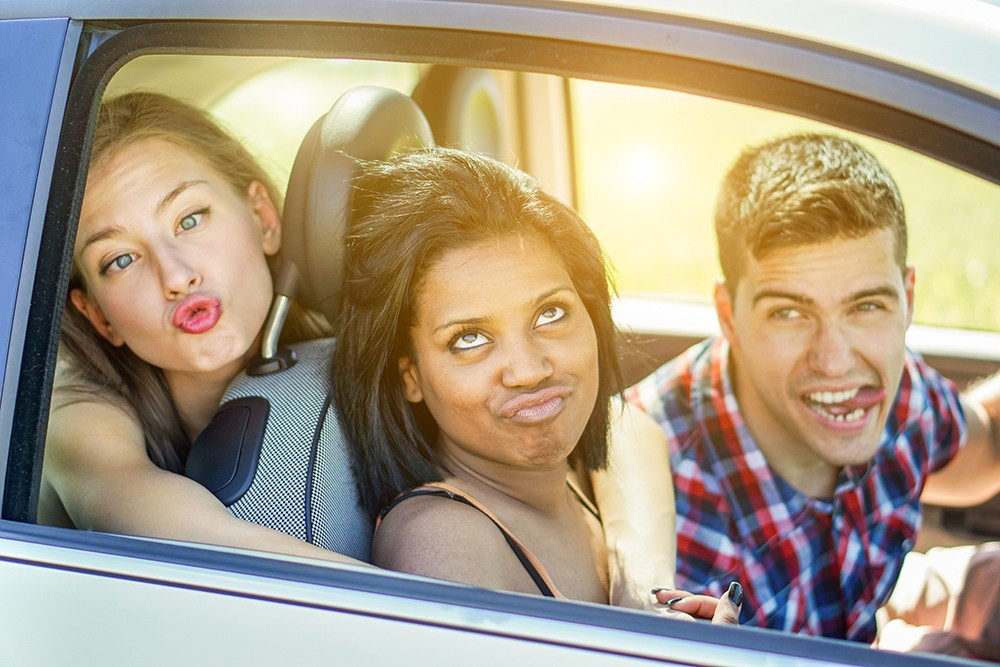 teens in car driving